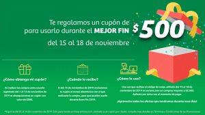 Soriana Buen Fin 2019: Cupón de $500 para usar en el Buen Fin