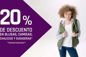 Suburbia: 20% de descuento en Blusas, camisas, chalecos y sudaderas