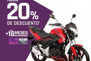Suburbia: Hasta 20% de descuento en motocicletas y 18 MSI