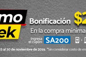 Promo Week Superama: Bonificación de $200 pesos en compras online