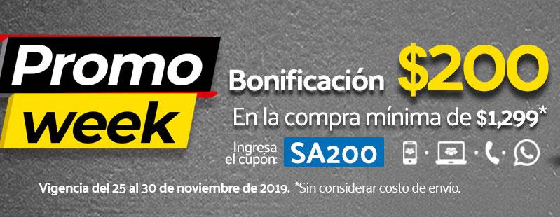 Promo Week Superama Bonificación de $200 pesos en compras online