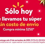 Walmart: Súper Jueves Envió Gratis 21 Noviembre 2019