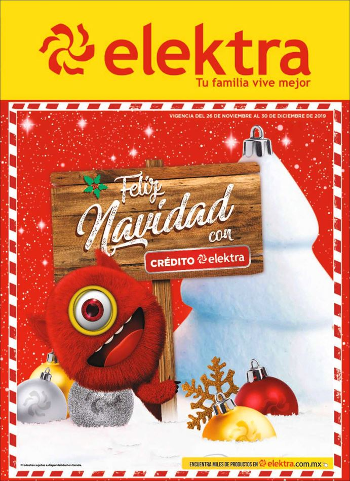 Catálogo Elektra Feliz Navidad del 5 al 30 de diciembre 2019