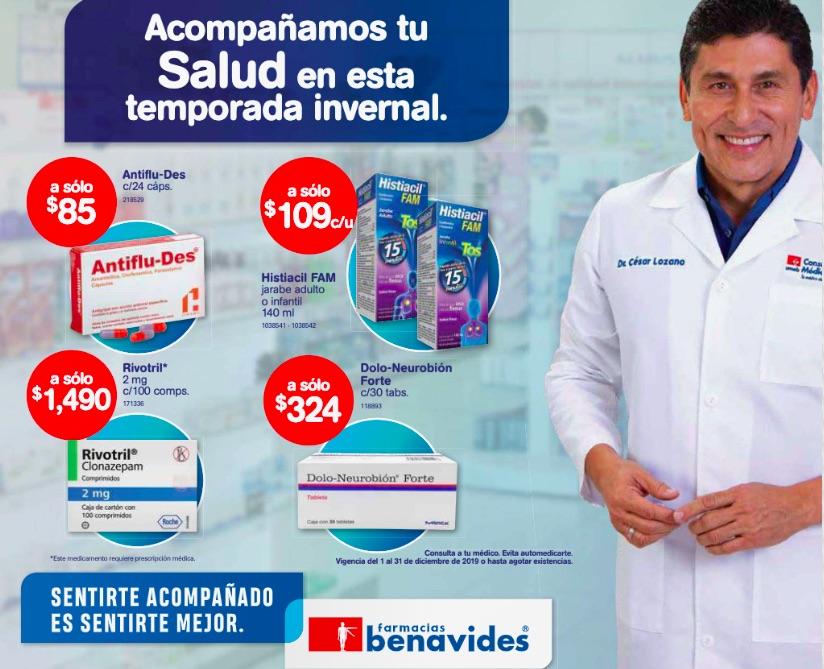 Farmacias Benavides: Folleto ofertas del 1 al 31 de diciembre del 2019