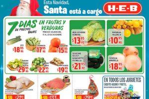 Frutas y Verduras HEB del 17 al 23 de diciembre 2019