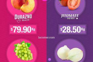 La Comer: Miércoles de Plaza Frutas y Verduras al 1 de Enero 2020