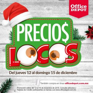 Office Depot: Ofertas de Precios Locos del 12 al 15 de diciembre 2019