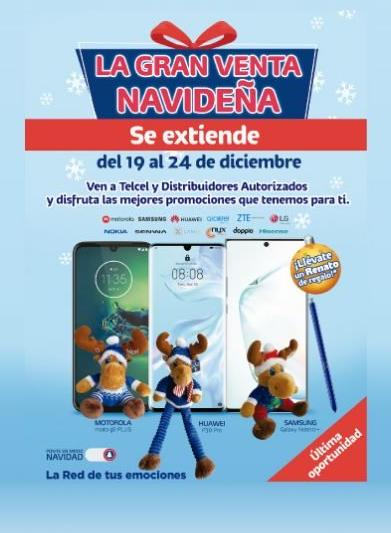 Promociones Telcel Venta Navideña del 19 al 24 de diciembre 2019