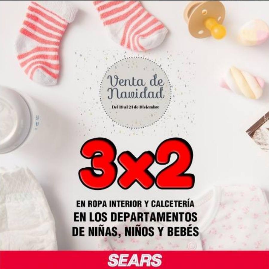 Gran Venta de Navidad Sears: 3×2 en ropa interior y Calcetería