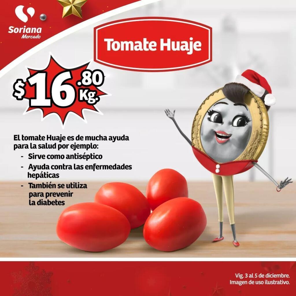 Ofertas Soriana Mercado frutas y verduras del 3 al 5 de diciembre 2019
