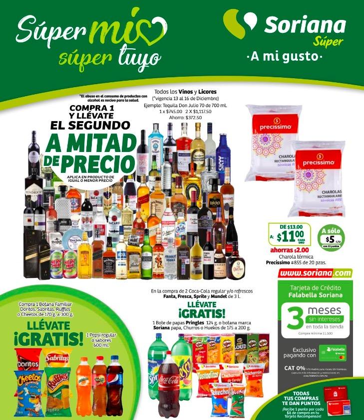 Folleto de ofertas Soriana Súper del 13 al 19 de diciembre 2019