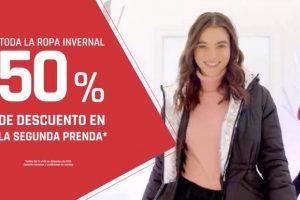 Suburbia: 50% de descuento en toda la ropa invernal en segunda prenda
