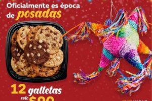 Subway: 12 galletas a $90 por la navidad todo el mes de diciembre 2019