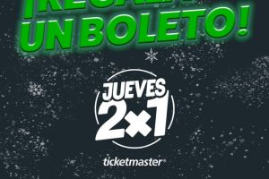 Ticketmaster - Jueves 2x1 en conciertos 19 de diciembre 2019