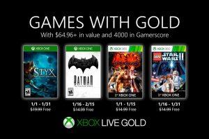 Juegos Gratis de Xbox Live Gold para Xbox One y 360 para enero 2020