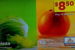 Frutas y Verduras Chedraui 14 y 15 de Enero 2020