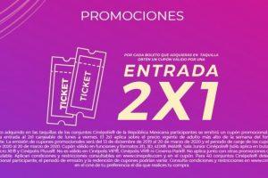 Promoción Premios Cinépolis 2020 cupón 2x1 en entradas