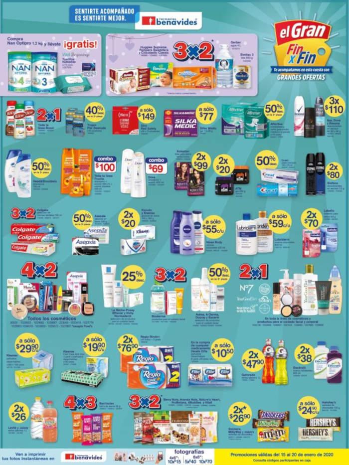 Folleto de ofertas Farmacias Benavides del 15 al 20 de enero 2020