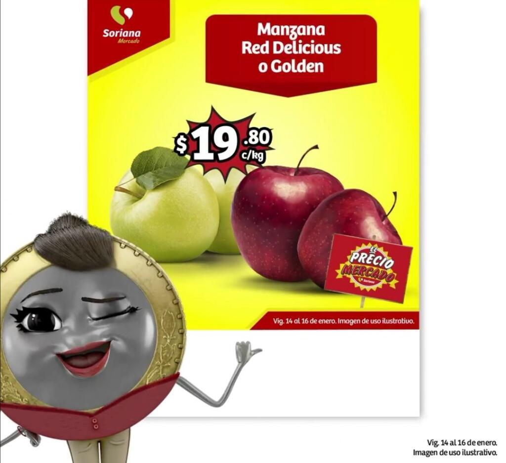 Frutas y Verduras Soriana Mercado del 14 al 16 de Enero 2020
