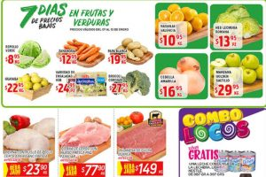 Frutas y Verduras HEB del 7 al 13 de Enero de 2020