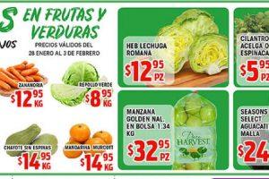 Frutas y Verduras HEB del 28 de Enero al 3 de Febrero de 2020