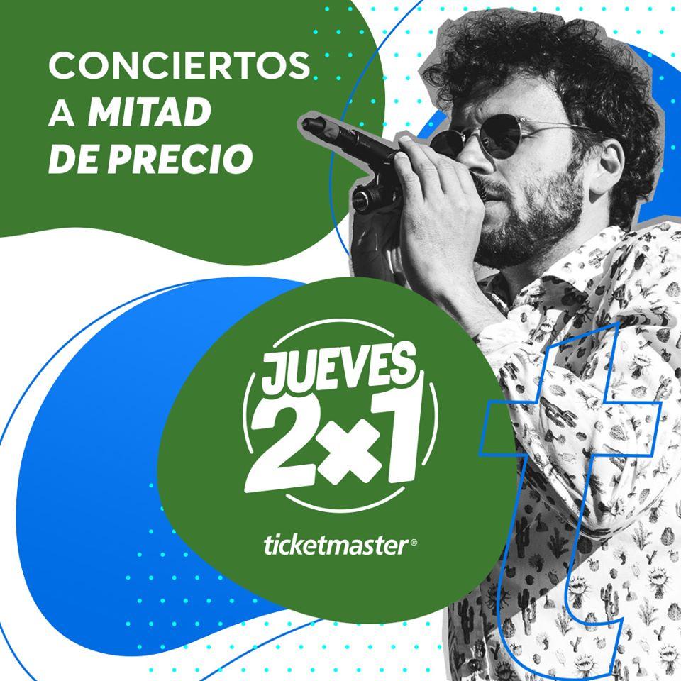 Jueves 2×1 en Ticketmaster 16 de Enero de 2020