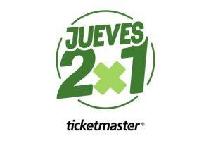 Jueves 2x1 en Ticketmaster 23 de enero de 2020