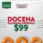 Krispy Kreme: Docena de donas a $99 del 10 al 12 de Enero 2020