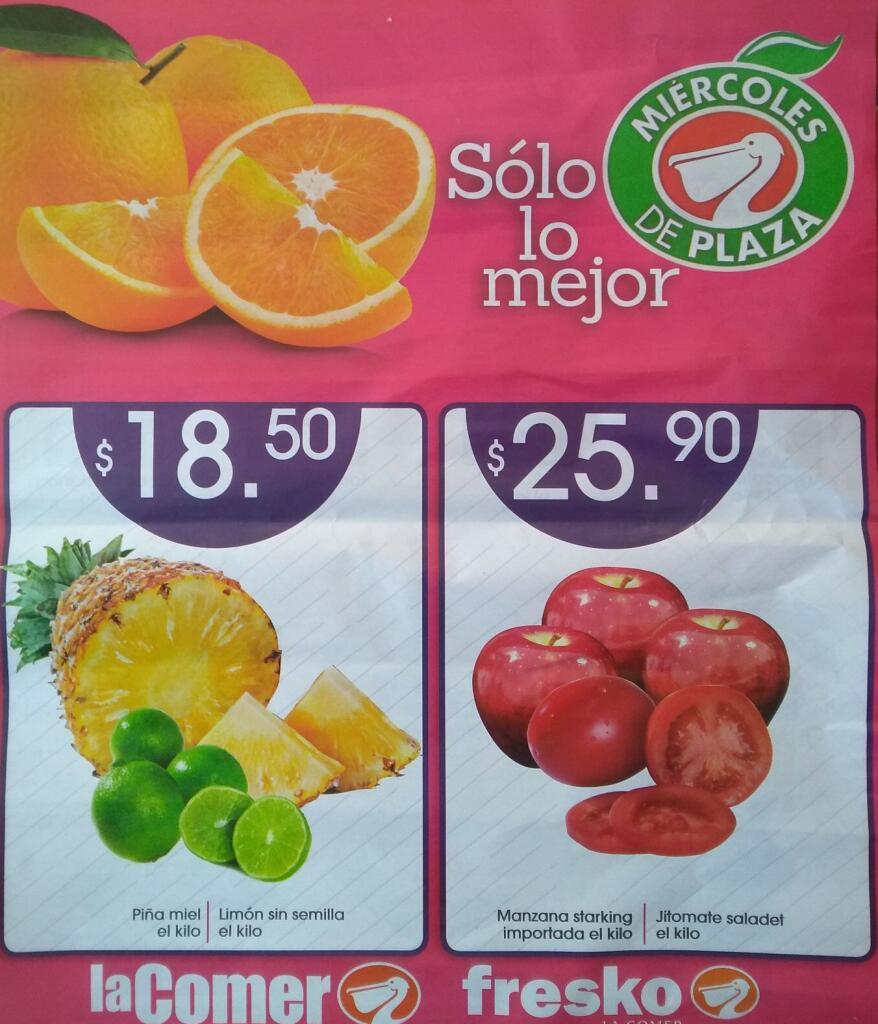 La Comer – Miércoles de Plaza Frutas y Verduras 8 de Enero 2020
