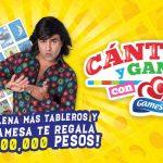 Promoción Gamesa Cántala y Gana Medio Millón de pesos y Cupones de Uber o Subway