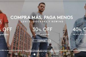 Promoda Hasta 40% de descuento en Levi's, Dockers y Rewind