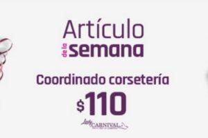 Artículo de la Semana Suburbia Coordinado Corsetería Carnival a $110