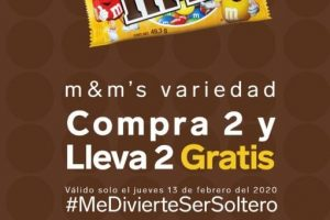 Promociones 7-Eleven San Valentín 2020: 4X2 en Chocolates M&M y más