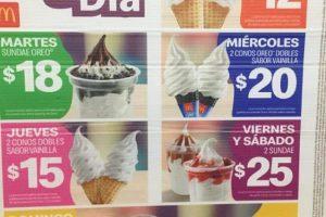 Promociones McDonald's Postres del Día lunes a domingo Marzo 2020