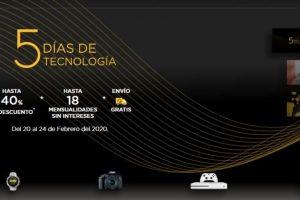 Palacio de Hierro 5 Días de Tecnología hasta 40% de descuento + 18 msi