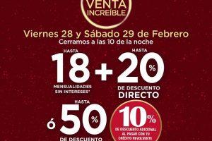 Sears - Venta Nocturna Increíble 28 y 29 de Febrero 2020