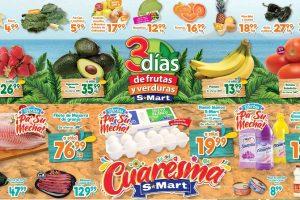 Ofertas S-Mart frutas y verduras del 25 al 27 de febrero 2020