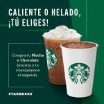 Starbucks: 2x1 en Mocha o Chocolate del 5 al 9 de Febrero 2020