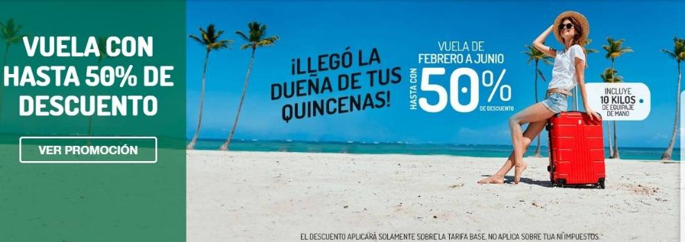 Viva Aerobus – Ofertas de la Quincenas hasta 50% de descuento en vuelos