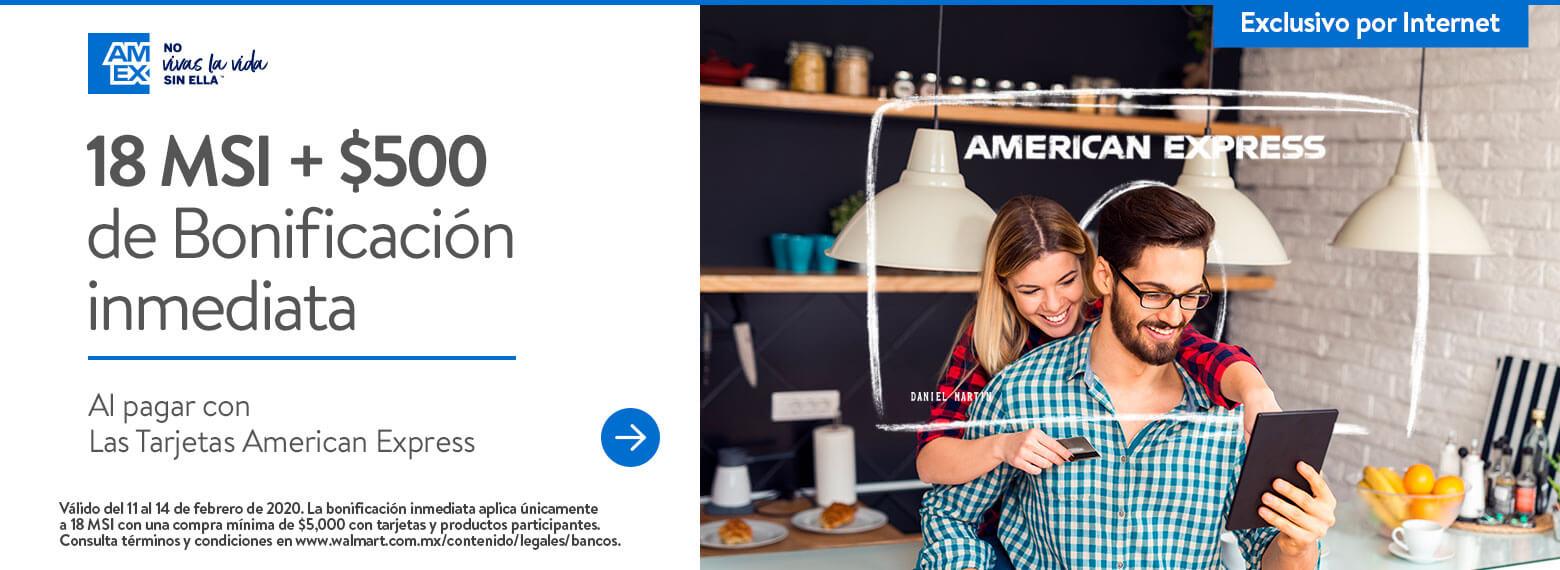 Walmart: $500 de bonificación con BBVA y American Express San Valentin 2020