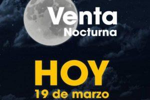 Gran Venta Nocturna Aeromart al 19 de marzo 2020