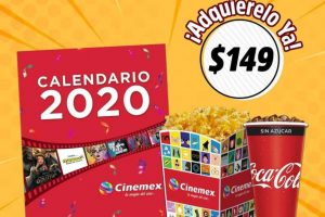 Combo Calendario Cinemex 2020: Incluye Palomitas y Refresco Grande
