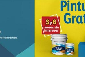 Promoción Comex Regalón Regalitro 2020 Pintura Gratis y MSI
