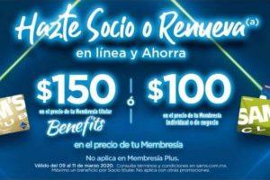 Membresías Sam's Club Hazte Socio o Renueva en Línea y Ahorra $150