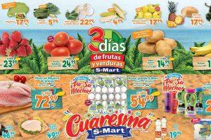 Ofertas S-Mart frutas y verduras del 10 al 12 de marzo 2020