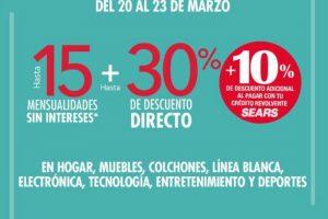 Sears ofertas de fin de semana del 20 al 23 de marzo 2020