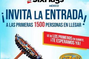 Six Flags: Entrada gratis las primeras 1,500 personas 12 de Marzo 2020