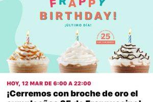 Promoción Starbucks Frappuccino a $25 pesos Jueves 12 de Marzo 2020