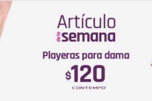 Artículo de la semana Suburbia Playera para dama Contempo a $120