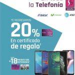 Suburbia: 20% en certificado de regalo en telefonía 13 al 17 de marzo 2020